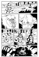 Mega Man X: Bungle in the Jungle Page Inks by MegaRyan104