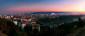 Cluj-Napoca after sunset by kantzorf