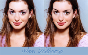 Anne Hathaway retouch by theskyinside
