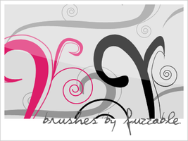 Brushes - Swirls-vector by msLana