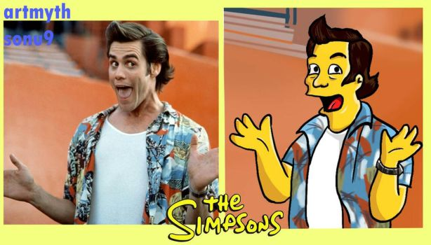Jim Carry Simpsons by sonu9