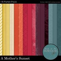 A Mother's Sunset Paper Pack by ravynfaire