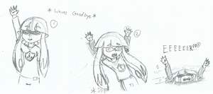 Michi is a clumsy squid... by Trilogybrawler
