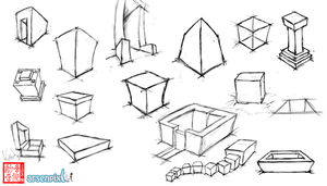 Cube Perspective Practice by XLordAndyX