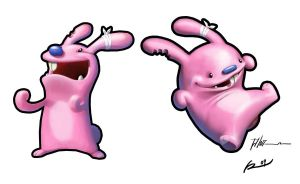 Pink Bunnies by ReevolveR
