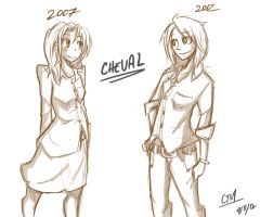 OC: Cheval then and now by Coin-Trip39