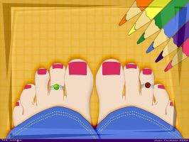 Eye kisses toe rings by rlcwallpapers