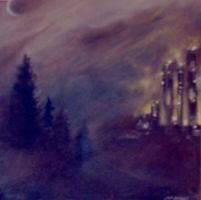 oil at night by WormDog1