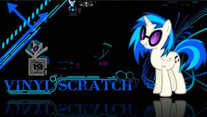 Vinyl Scratch Rainmeter by NerdyPoncho