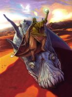 Galaxy 4: Tusken Raider art by Randy-Martinez