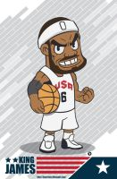 Chibi Lebron Iphone Wallpaper by Bourrouet
