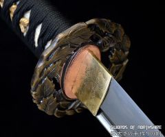 Tsubaki Full Tang Folded Steel Katana by swordsofnorthshire