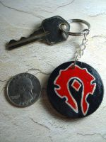 WoW Horde Keychain 5-Large by Erisana