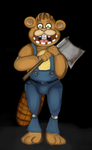 Chipper the Beaver by 0rcinus