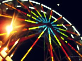 Ferris Wheel lights by GorgeousSoul