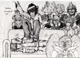 Death Note Christmas by Khaoshound