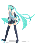 .: DL Series :. Dondon Hatsune Miku by Duekko
