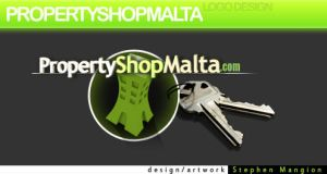 PropertyShopMalta Web Logo by mangion