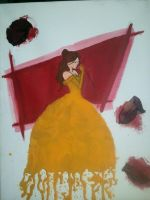 Belle Crayon Art by Winged-warrior