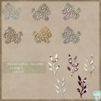 Floral fabric accents by libidules