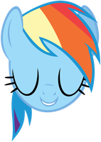 Rainbow Dash Head by DasDuriel