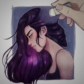 Erase my thoughts - Collaboration by Cyarin