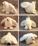 Willow grouse - plushie SOLD by IsisMasshiro