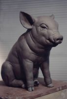 Pig, Sculpture by aaronsimscompany