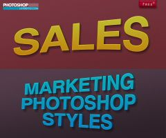 Free Marketing Layer styles for Photoshop by designercow