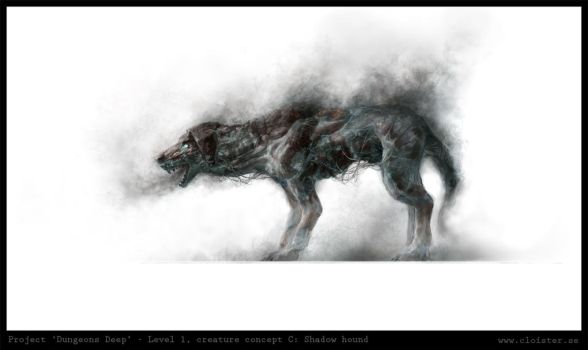 Dungeon level 1 - creature concept B: Shadow hound by Cloister