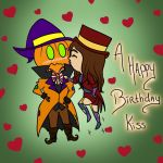 Happy Birthday Kiss for Tannie by RedMoon-Tiger