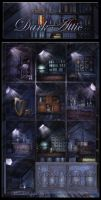 Dark Attic backgrounds by moonchild-ljilja
