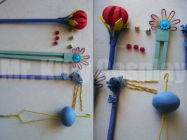 Lulu Hair Pins - Sticks FFX by mrkittycosplay