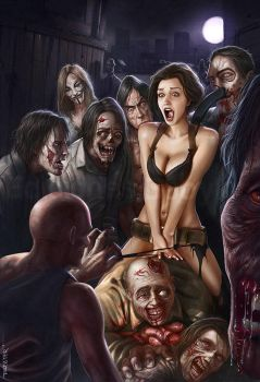 Halloween: Horny Zombies by rafater