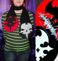 Twewy Player Pin Scarf by wearmuffin