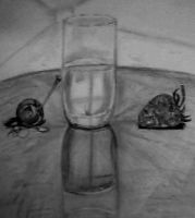 Glass of Water and Fruit by blacknimproud