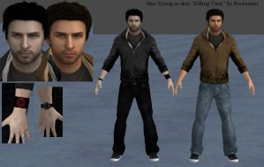 Alex Dark Re-skin from XNALara ''Killing Time'' by Rockeeterl