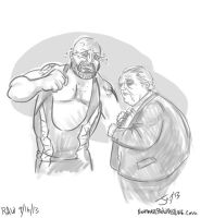 Dusty Rhodes and Bigshow by JonDavidGuerra