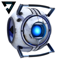 Wheatley - render by Asuka424