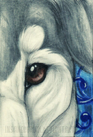Greyhound ACEO Commission by InsaneRoman