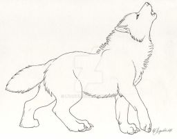 Dire wolf by Lyanti