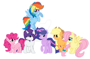 Future Mane 6 by luluflaire