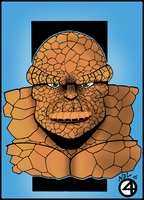 THE THING - FANTASTIC FOUR - COLORED by RCKNP