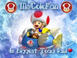 Stamp request: Biggest Toad Fan by CloTheMarioLover