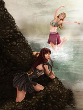 Xena and Gabrielle by BasakTinli