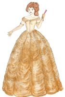Belle's Gold Ballgown by unusual-filament