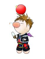 Sora-Cosplaying Moogle by Topaz-Fire