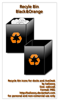 Recycle Bin Black and Orange by kali2005