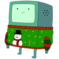 XMAS BMO from Adventure Time png by princessxsofia