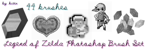 ZELDA Photoshop CS3 Brushes by punkdoutkittn